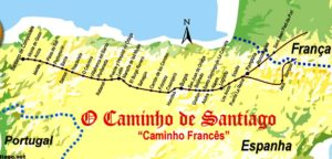 Mapa do Caminho Francês